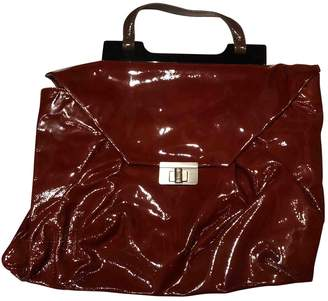 Marni Burgundy Patent leather Handbags