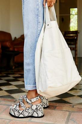 We The Free Oversized Washed Denim Tote at Free People