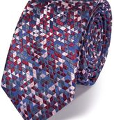 Charles Tyrwhitt Slim pink silk triangle luxury tie