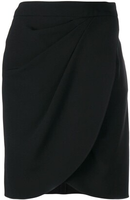 Emporio Armani Ruched Fitted Mini Skirt