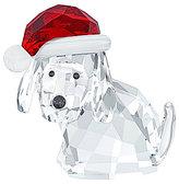Swarovski Dog with Santa's Hat Figurine