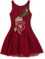Zoë Ltd Rosie Netted Fit-and-Flare Dress, Size 4-6X