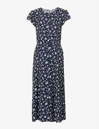 Reformation Fauna floral-print woven midi dress
