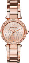 Michael Kors MK6470 Mini Parker rose gold-toned stainless steel watch