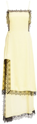 3.1 Phillip Lim Layered Satin Midi Apron Dress