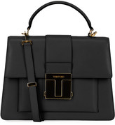 Tom Ford Small Leather Top-Handle Bag with Golden Hardware