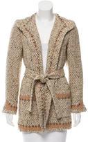 Oscar de la Renta Tweed Belted Blazer