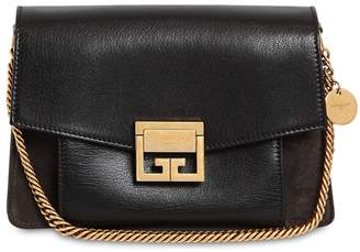 Givenchy Small Gv3 Leather & Suede Shoulder Bag