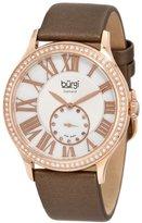 Burgi Women's BU56RG Swiss Quartz Diamond Strap Watch