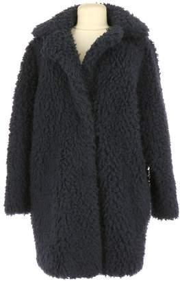 Sandro Navy Coat for Women