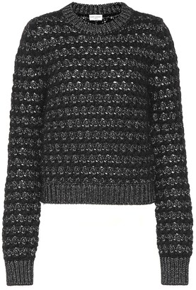 Saint Laurent Mohair and wool-blend sweater