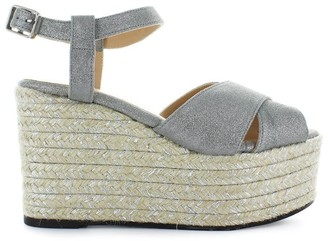Castaner Espino Silver Wedge Sandal