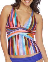 Athena Kaliedostripe Printed Layna Tankini Top