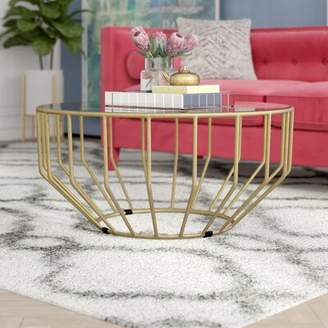 Everly Quinn Kane Glass Round Coffee Table Quinn