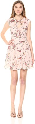 Ali & Jay Women's Floral EL CID Bow Front FIT and Flare Mini Dress