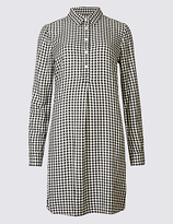 Limited Edition Gingham Long Sleeve Shirt Dress