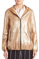 Brunello Cucinelli Metallic Leather Jacket