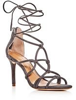 Halston Brielle Caged Ankle Wrap High Heel Sandals