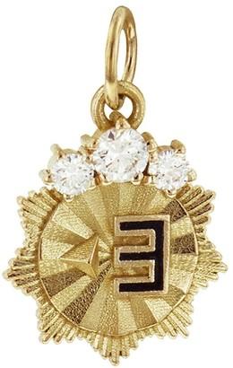 Foundrae East Mini Course Correction Medallion - Yellow Gold