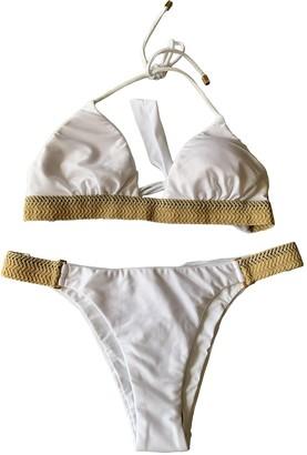 Vix Paula Hermanny White Lycra Swimwear for Women