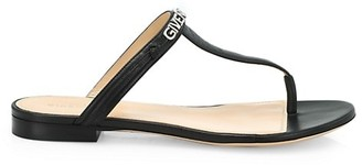 Givenchy Elba Leather Flat Thong Sandals