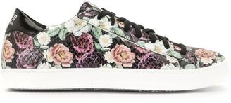 P448 Floral Print Sneakers