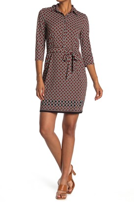 Max Studio Printed Shirtdress
