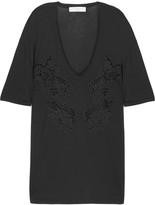 Lace jersey T-shirt