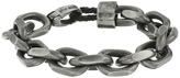 """Steve Madden Stainless Steel 8"""" Facet Rolo Chain Bracelet"""
