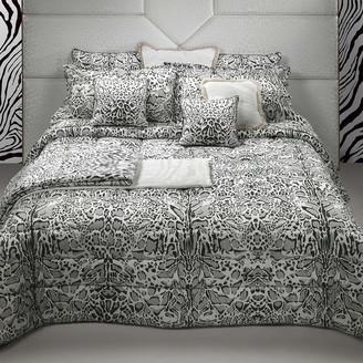 Roberto Cavalli Linx Bed Set - Grey - King