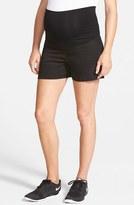 Olian Women's Twill Maternity Shorts