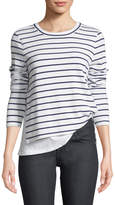 Generation Love Ellie Crewneck Double-Layer Striped Top