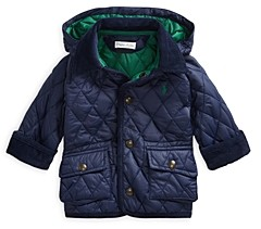 Ralph Lauren Boys' Quilted Zip Hood Car Coat - Baby