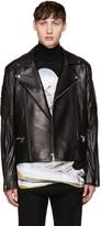 Juun.J Black Sheepskin Biker Jacket