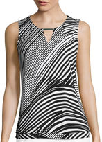 Liz Claiborne Metal Bar Layered Knit Tank Top