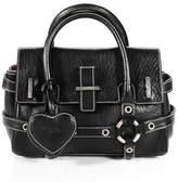 Luella Black Leather Mini Gisele Satchel Handbag