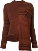 Stella McCartney Long Sleeve Asymmetrical Striped Sweater