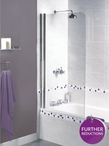 Aqualux Shine Half Framed Radius Bath Screen - 1500 X 850mm