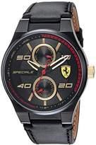 Ferrari Scuderia Men's 'SPECIALE MULTI' Quartz Resin and Leather Casual Watch, Color:Black (Model: 0830418)