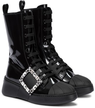 Roger Vivier Viv' Skate patent leather ankle boots