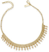 INC International Concepts Gold-Tone Beaded Mesh Choker Necklace, Only at Macy's