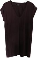 Isabel Marant Burgundy Cotton Top