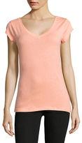 Design Lab Lord & Taylor Organic Cotton V-Neck T-Shirt