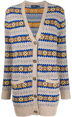 Polo Ralph Lauren Embroidered Long-Sleeve Cardigan