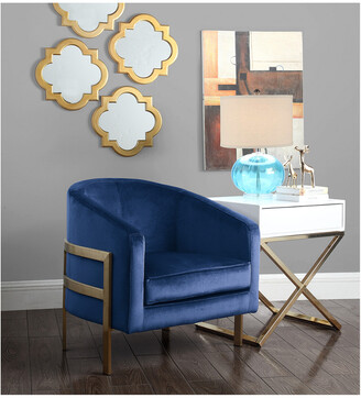 Chic Home Monte Navy Accent Chair