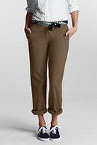 Classic Women's Petite Mid Rise Straight Leg Chino Pants-True Navy
