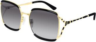 Gucci Oversized Square Injection Sunglasses