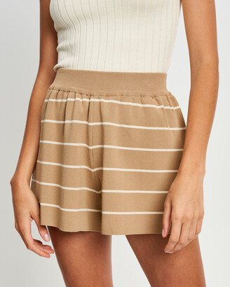 ST MRLO - Women's Neutrals High-Waisted - Monterey Shorts - Size One Size, 6 at The Iconic