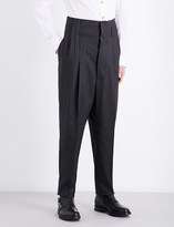 Vivienne Westwood Pinstripe-patterned high-rise wool trousers