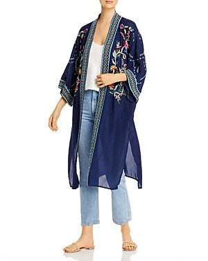 Johnny Was Summer Embroidered Long Kimono